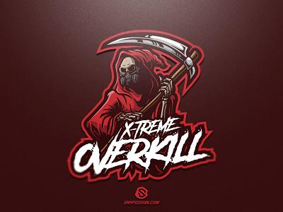 X-Treme Overkill illustration design logotype sport esport gaming identity logo mascot