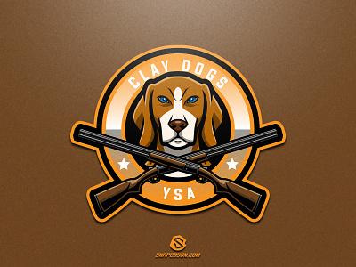 Clay Dogs YSA illustration design logotype sport esport gaming identity logo mascot