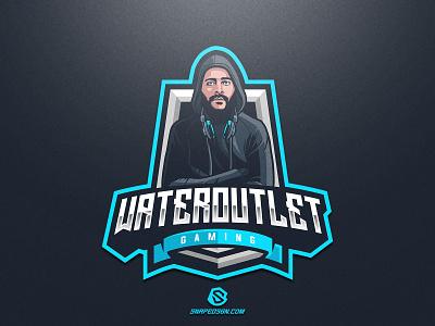 Wateroutlet Gaming illustration design logotype sport esport gaming identity logo mascot