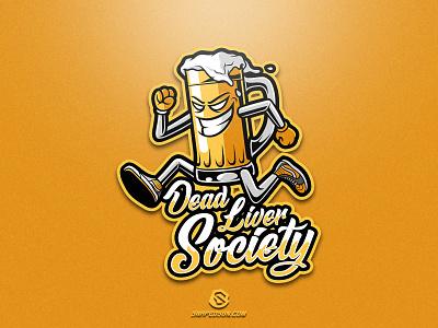 Dead Liver Society illustration design logotype sport esport gaming identity logo mascot