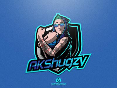 AKShugzy illustration design logotype sport esport gaming identity logo mascot