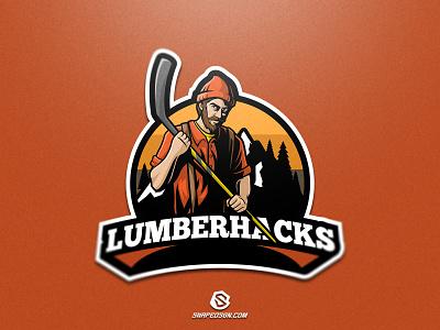 Lumberhacks illustration design logotype sport esport gaming identity logo mascot