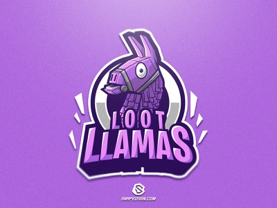 Loot Llamas illustration design logotype sport esport gaming identity logo mascot
