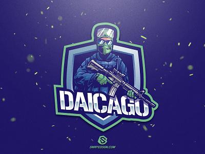 Daicago illustration design logotype sport esport gaming logo identity mascot