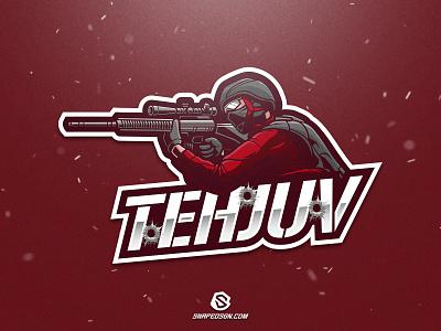 Tehjuv illustration design logotype sport esport gaming identity logo mascot