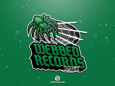 Webbed Records illustration design logotype sport esport gaming identity logo mascot