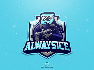 Alwaysice illustration design logotype sport esport gaming identity logo mascot