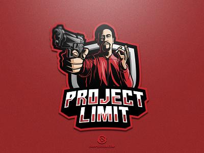 Project Limit illustration design logotype sport esport gaming identity logo mascot