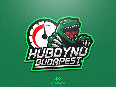 Hubdyno Budapest illustration design logotype sport esport gaming identity logo mascot