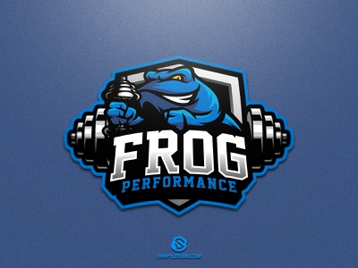 Frog Performance illustration design logotype sport esport gaming identity logo mascot