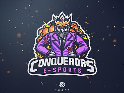 Conquerors E-Sport gaming mascot logotype logo identity esport