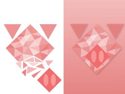Polygonal Sakura Pig