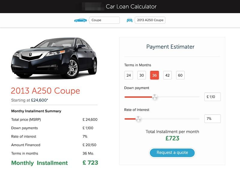 financial car loan calculator by biplove sharma dribbble