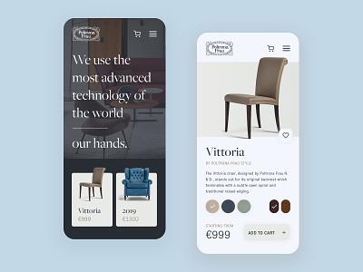 Poltrona Frau Ecommerce Mobile web sketch modern mobile ios interface flat luxury concept furniture ecommerce website minimal typogaphy ux branding design ui art app