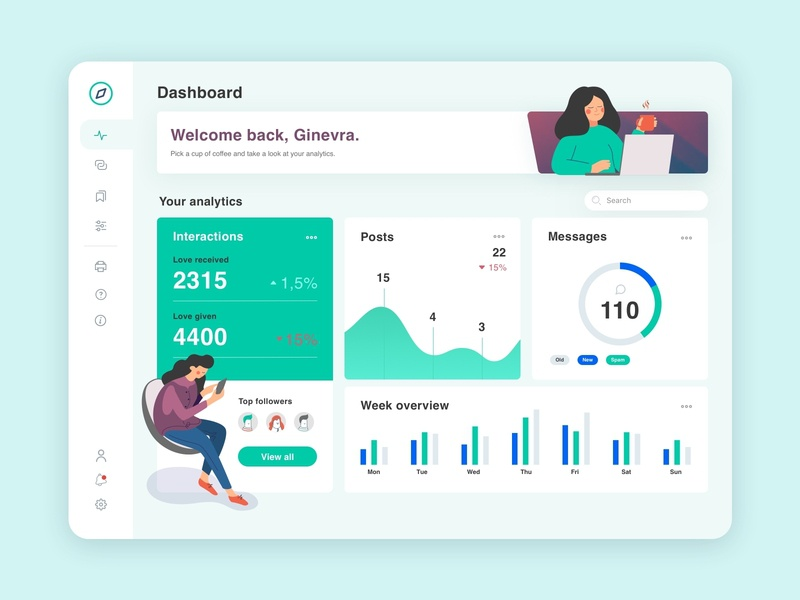 Dashboard App Social