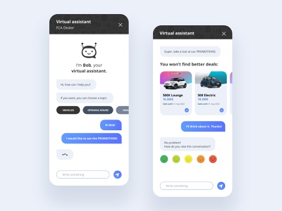 FCA Dealer Chatbot chat bot interface ios uxui sketch art chat chatbot website minimal flat web app branding typography ux ui design