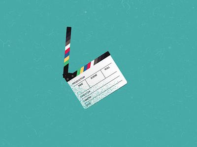 Intro animation - Ciak ciak movie animation principles design illustration animation motion