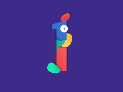 #36daysoftype - One!!1!!1 typografy one 36daysoftype design illustration animation motion
