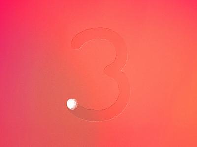 Three animated for 36daysoftype! :) three 36daysoftype design illustration animation motion