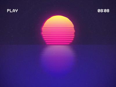 80s vibes 8 typography 80s style sun 80s 36daysoftype design illustration animation motion