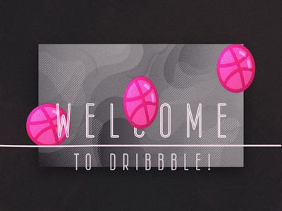 Welcome new Dribbblers! loop vector typography animation principles design illustration animation motion dribbble invitation welcome