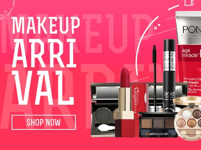 Makeup Arrival Banner Design By Noman Ahmed Abbasi On Dribbble