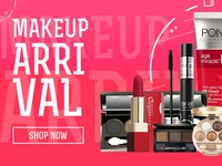 Makeup Arrival Banner Design