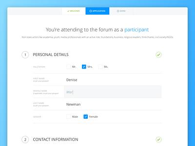 Web application form attend application field clean registration web form