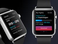 Flight tracking watch app