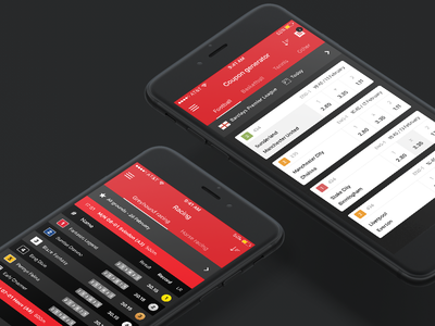 Sports betting app red dark team betting card table iphone app ios soccer bet sport