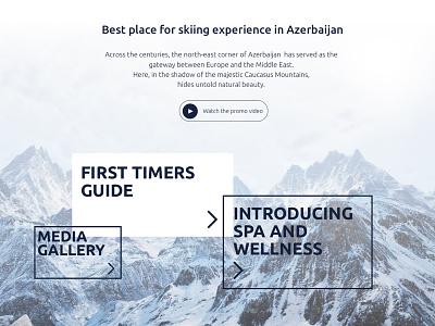 Ski winter website menu header package form hotel parallax mountain sport resort winter skiing ski