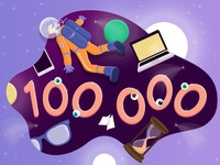 100 000 views on Behance