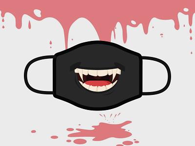 Dracula Mask illustration illustrator
