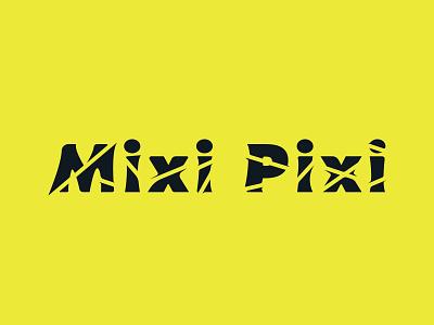 Mixi Pixi typogaphy brand