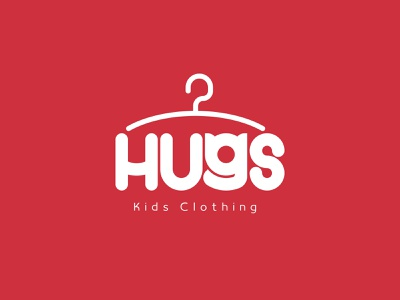 Hugs: Kids Clothing brand identity illustrator vector brand logotype typogaphy design branding logo