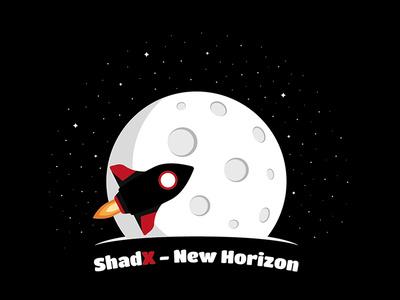 Shadx  New Horizon moon lander space logo