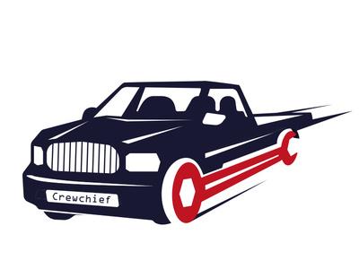 Crewchief mechanic vector design branding logo