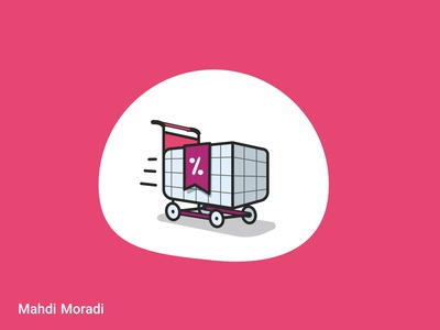 Shopping Cart - Vector illustration for Sepanta Clubs