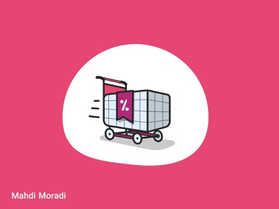 Shopping Cart - Vector illustration for Sepanta Clubs artist design illustrator icon set icon illustraion vector illustration vectorart vector