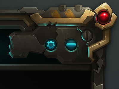 Patcher [GIF] wildstar futuristic mechanical close button patcher settings icon tech space game ui mmo
