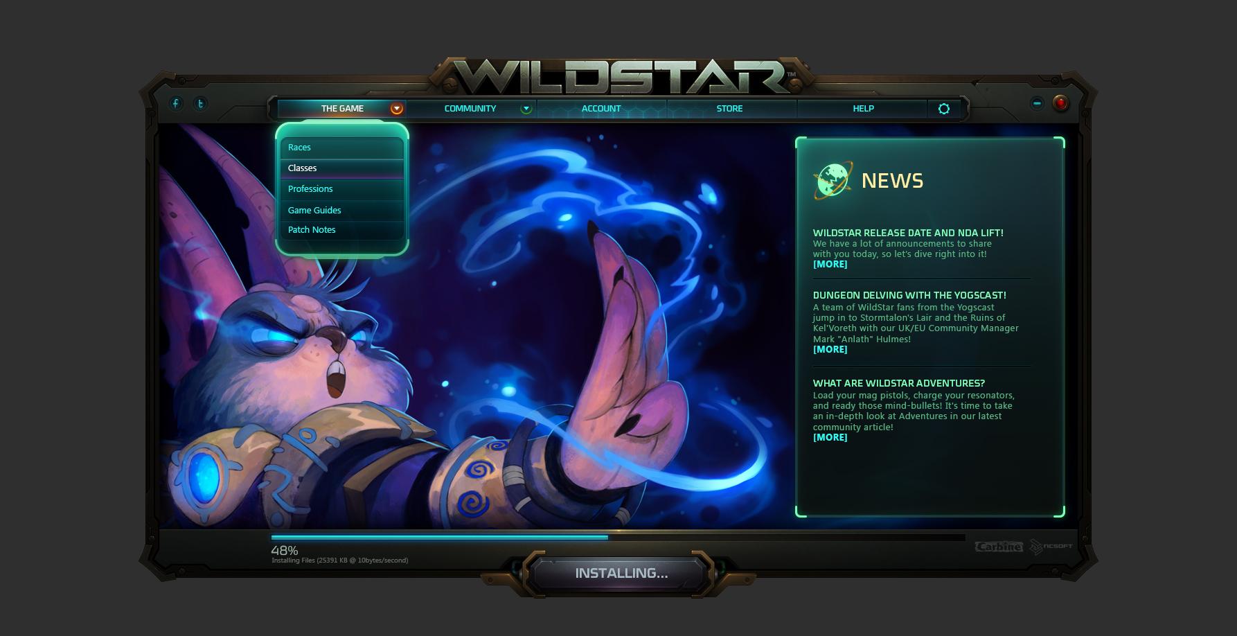 Wildstar launcher c