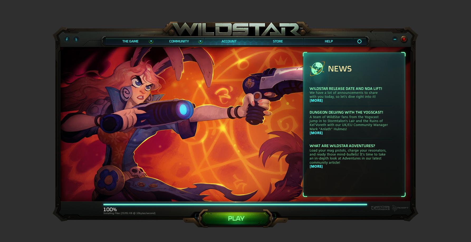 Wildstar launcher d