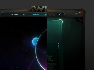 Wildstar Launcher Concept wildstar mmo planet game ui tech futuristic photoshop launcher space