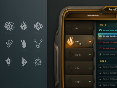Rune Crafting wildstar tech mmo photoshop futuristic rune icons crafting mechanical space