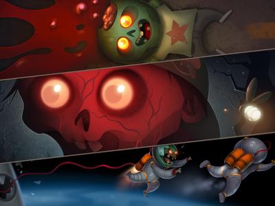Calling Card Set : Cartoon Zombies