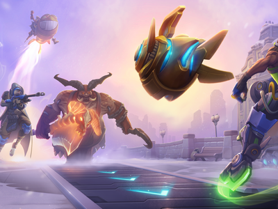 Industrial District Brawl Key Art heroes of the storm hots blizzard illistration