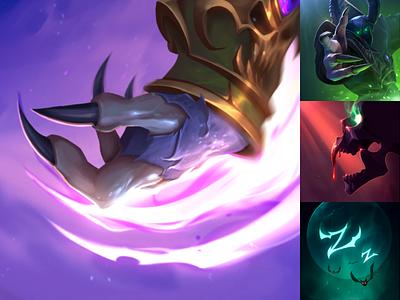 Hero Icon Set: Mal'Ganis game art game icons moba blizzard entertainment blizzard