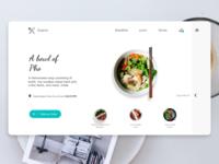 Concept Restaurant Website Design