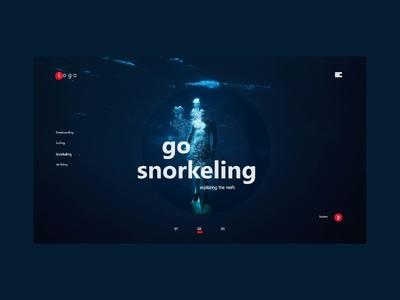 Go Snorkeling Concept UI Design