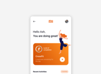 MI Fit app concept redesign ui minimal design concept design branding uxui user interface design userinterface uidesign prototype interaction design